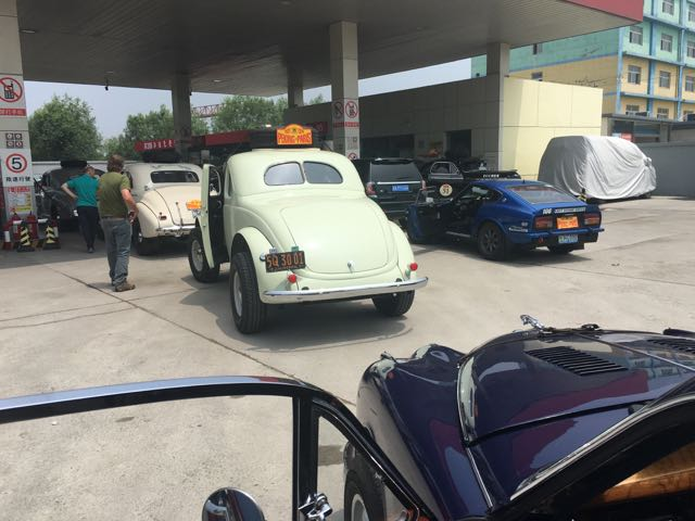 The first petrol stop